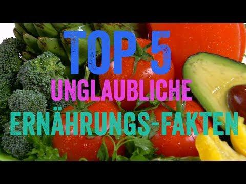 Die TOP 5 - Unglaubliche Ernährungs-Fakten