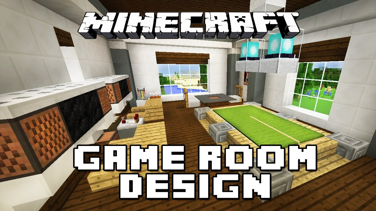 Minecraft tutorial how to make furniture for a game room for Minecraft house interior living room