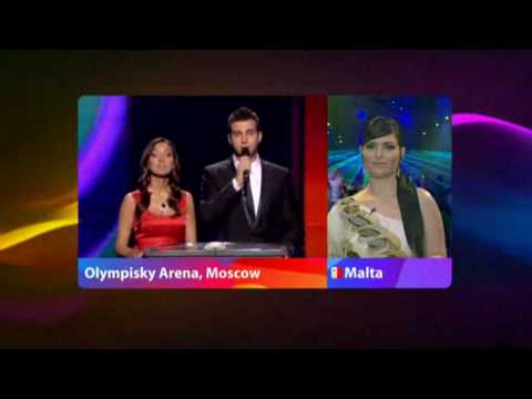 Eurovision 2009 - Voting Part 1/5 (No commentary) klip izle