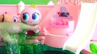 Slime Baby Doll Play ! Toys and Dolls Fun for Kids with Toddlers at the Pool & the Beach | SWTAD