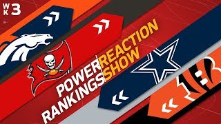 Power Rankings Week 3 Reaction Show: Cowboys or Giants Biggest Faller? | NFL Network