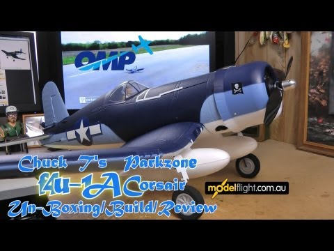 Parkzone F4U 1A Corsair Un-boxing-Build/Review