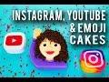 How To Make SOCIAL ICON CAKES! Chocolate Icon Cake