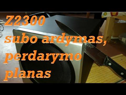 Z2300 Subo ardymas / perdarymo planas