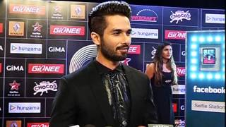 Shahid Kapoor Atif Aslam at 5th Edition Of GIMA Awards 2015