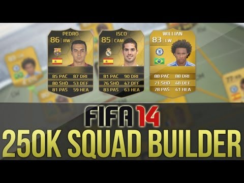 FIFA 14   250k Hybrid Squad Builder! ft. IF Isco. IF Pedro and Willian!
