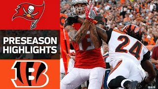 Buccaneers vs. Bengals | NFL Preseason Week 1 Game Highlights