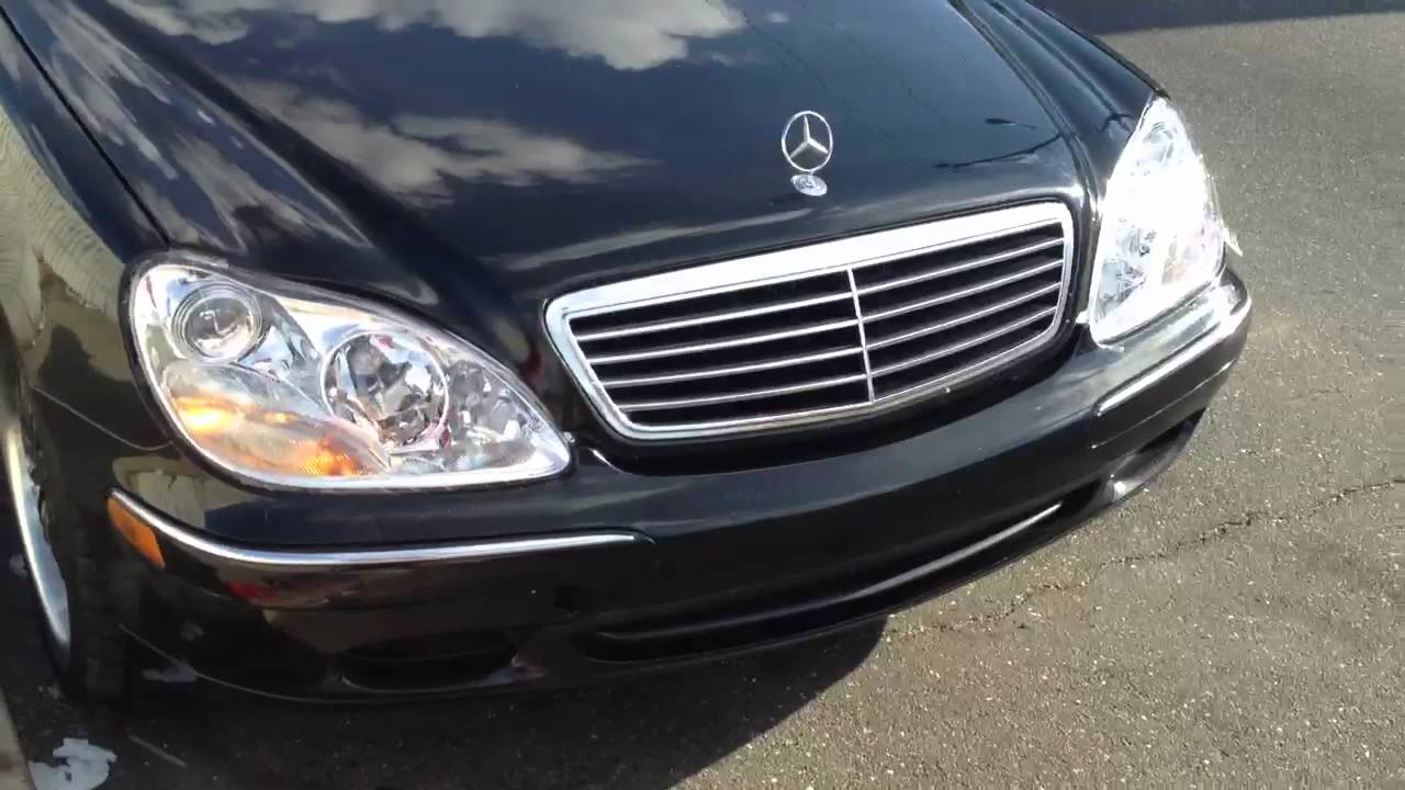 S500 halo head lights youtube for Mercedes benz s430 headlight replacement