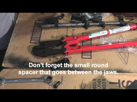 AK47 Kitchen build, Front Trunnion Installation with Tothtool rivet squeezer.wmv