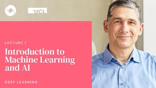 DeepMind x UCL | Deep Learning Lectures | 1/12 | Intro to Machine Learning & AI