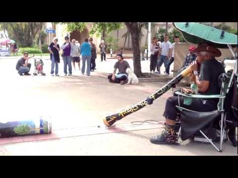 Didge-Drone: Didgeridoo Jamming and  Drone Protest - Balboa Park - April 7, 2013
