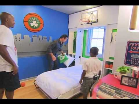 Extreme Makeover Home Edition – Charles Dunks On Ray Allen!
