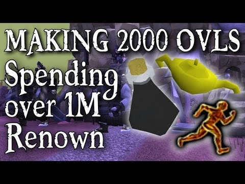 Runescape 3 – Spending Over 1M Renown & Making 2000 Overloads For DAT XP! – Commentary