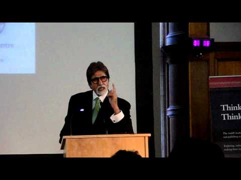 Amitabh Bachchan reciting Madhushala in Oxford - Distinguished...