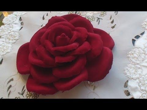 Цветок из бархата своими руками