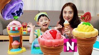 콩순이 아이스크림 가게 팔찌메이커 컬러 트위스트 장난감 상황극 팔찌 만들기 놀이 뉴욕이랑 놀자 Ice cream shop Bracelet maker Toy NY Toys