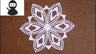 DIY Paper Snowflakes Easy   Paper Snowflakes Challenge   Christmas Paper Snowflake Ornamen New 2018