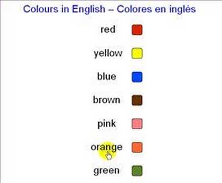 Colores en ingles youtube for Aeiou el jardin de clarilu mp3