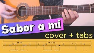 SABOR A MI on Guitar - Cover Tutorial Lesson Tabs Chords