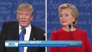 Trump Sniffling during Debate Catches Social Mediaвs Attention  ABC News