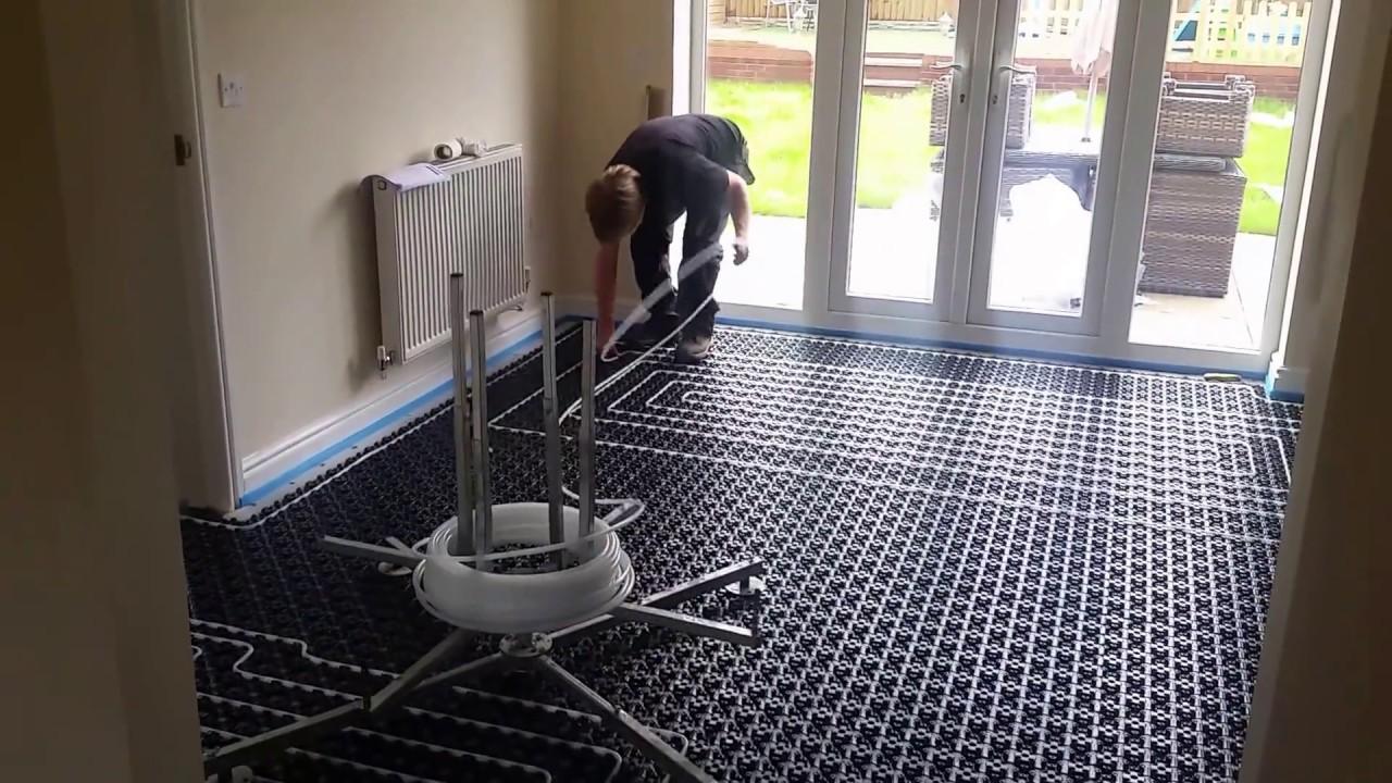 Installing electric floor heating under tile