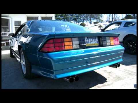 1992 camaro rs w/ hooker exhaust youtube
