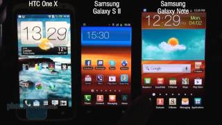 Benchmark comparison - One X vs Galaxy S II vs Note
