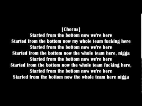 Drake-Started From The Bottom (Explicit) lyrics