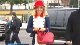 Kellyanne Conway Dressed In RED WHITE And BLUE For The Swearing In Of Donald Trump