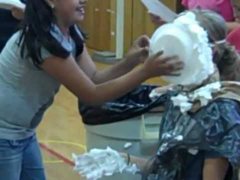 Miss Lommel Gets Pies in the Face for Good Writing Scores.