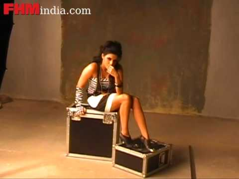 Delectable Asin strikes a pose for the FHM shoot