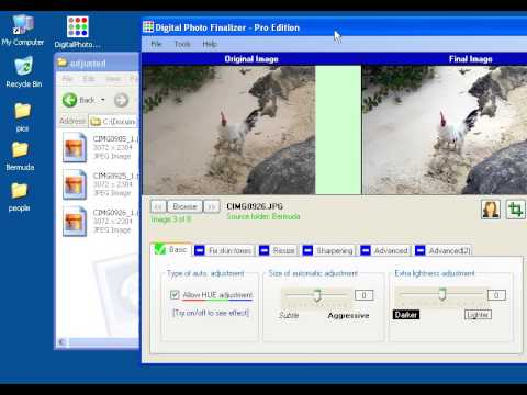 Digital Image Formats in Digital Photo Finalizer