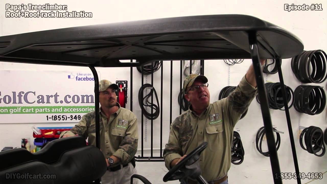 Ezgo Golf Cart Top Roof Rack How To Install Episode 11