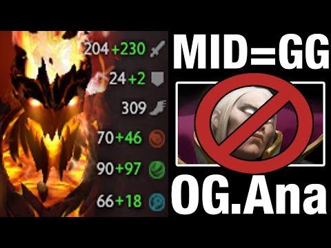 OG.Ana MID = GG - Shadow Fiend - Dota 2