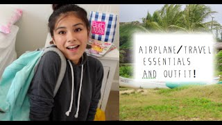 Travel/Airplane Outfit and essentials!+HAWAII VLOG