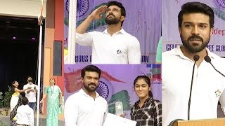 Ram Charan Flag Host at Chirec International School | Ram Charan Independence Day Speech