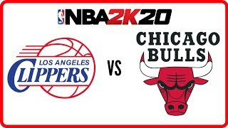 NBA 2K20 Gameplay Clippers vs  Bulls