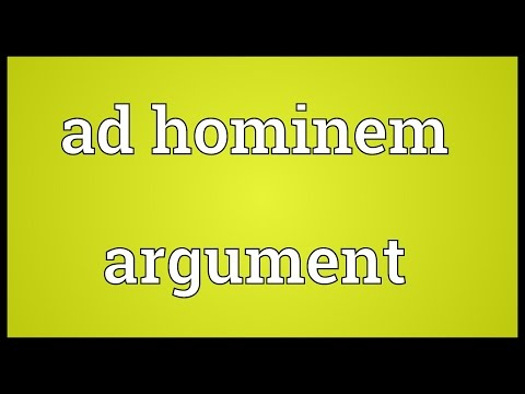 Header of Ad Hominem Argument