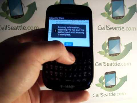 Blackberry 8520 Data Wipe Procedure