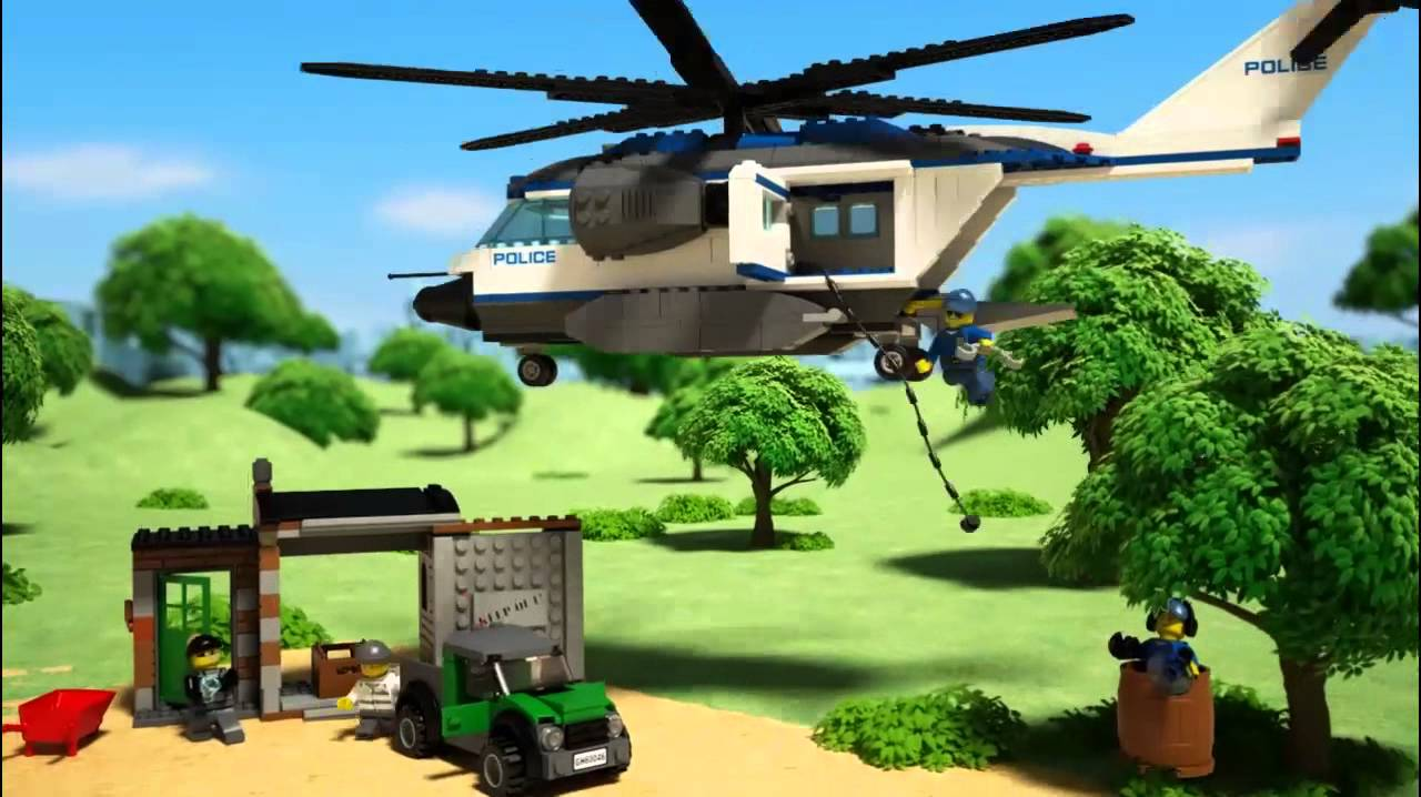 lego police helicopter videos with Watch on Watch in addition Lego City 60173 Mountain Arrest besides You Dont Deserve Toys Jerky Kids Knocked together with Index as well Police gunship.