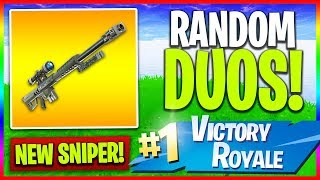 "🔴 NEW ""Heavy Sniper"" Soon! // Random Duos (Fortnite LIVE Gameplay)"