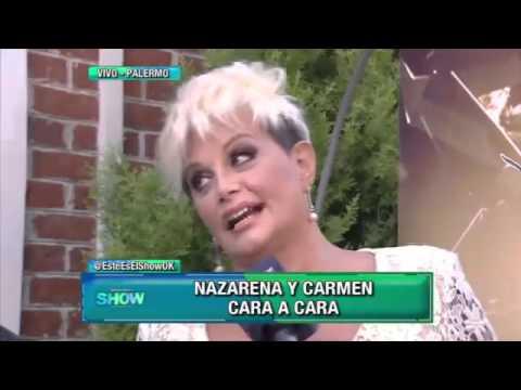Nazarena Vélez y Carmen Barbieri se vieron las caras luego de la pelea que las enfrentó