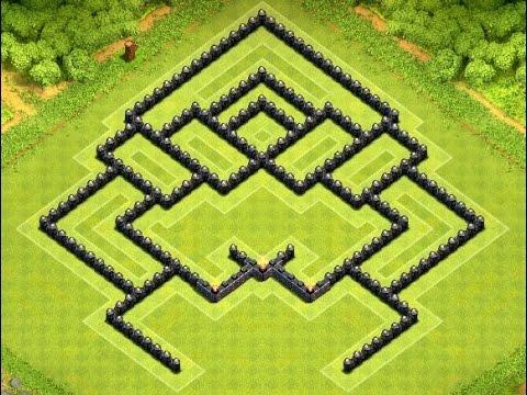 Coc new th8 trophy clan wars southern teaser base design