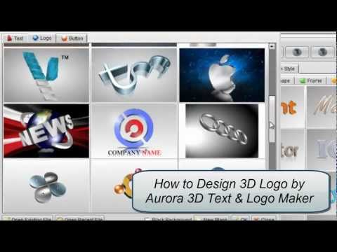 3D Logo Design by Aurora 3D Text & Logo Maker