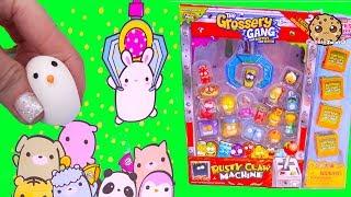 Claw Machines ! Moj Moj Squishy Animals Surprise Blind Bags + Grossery Gang