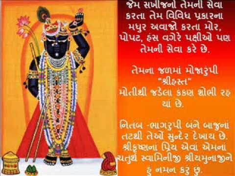 Shri Yamunashtak With Lyrics video