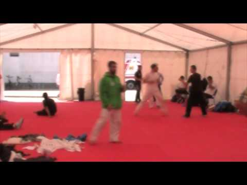 Warm-up Rafael Aghayev. 48th European Karate Championships