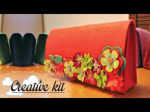 "Come fare ""Borsa in feltro (Mod. Fiorito)"" Tutorial Creative kit"