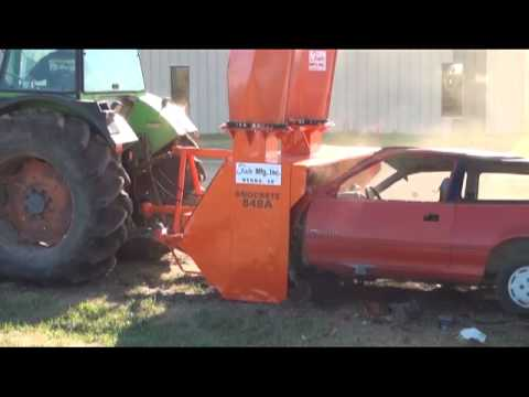 Fair Snocrete Snowblower vs car