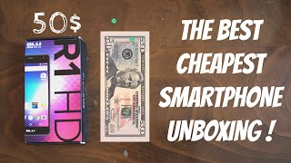 Best CHEAPEST Phone Unboxing ! 50$ BLU R1 HD . MUST WATCH !!!!